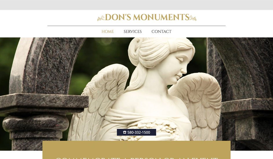 Dons Monuments logo design page