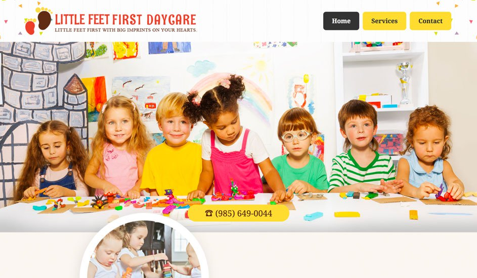 Little Feet First Daycare logo design page