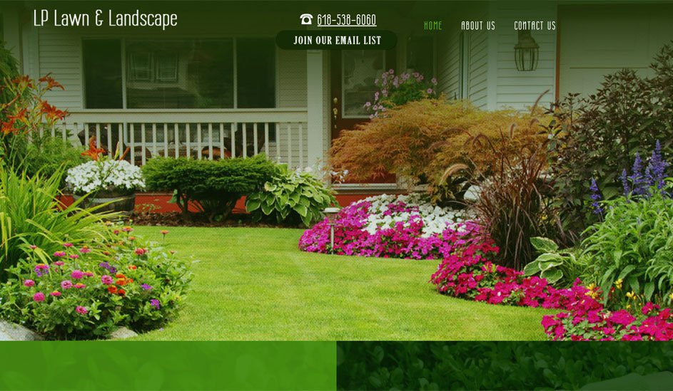 lp lawn and landscape logo design page